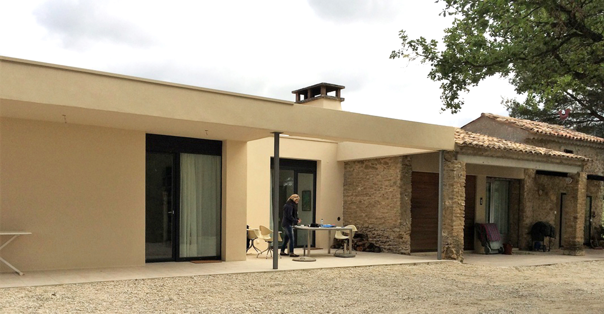 extention d 39 une maison en provence l bv. Black Bedroom Furniture Sets. Home Design Ideas